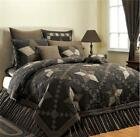 Farmhouse Star Black Khaki Quilt Luxury California King, King, Queen or Twin