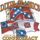 "Southern "" FLAGS OF THE CONFEDERACY "" 50/50 Gildan/Jerzees T SHIRT"