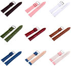 Unisex 7 Colors Genuine Leather Alligator Crocodile Grain Watch Strap Band