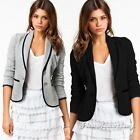 Fashion Autumn Women Female Casual Crop Slim Jacket Suit Office Coat Blazer Top