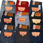 Levis 501 Jeans Mens Straight Leg  Button Fly Original 29 30 31 32 33 34 36 38