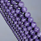 4/6/8/10/12/14mm Chic Round Natural Gemstone Amethyst Loose Bead Strand Gift BP