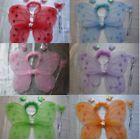 9 Colour 1 Butterfly Fairy Wings Wand Headband Fancy Dress Hen Night Party