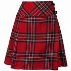"Ladies Knee Length Royal Stewart Kilt Skirt 20"" Length Tartan Pleated"
