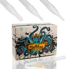 Ruthless Clear Disposable Sterile Tattoo Tip Long Stem 50 Round Flat Diamond