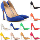 WOMENS SEXY HIGH HEELS STILETTO PUMPS FAUX SUEDE SHOES SIZE US4 5 6 7 8 9 10 11