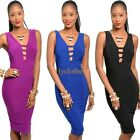 Womens Pinup Cut Out Back Fitted Bodycon Party Cocktail Sheath Pencil Dress B04