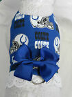 DOG CAT FERRET Harness~Indianapolis NFL Team COLTS Cheerleader BLUE Bow & Lace