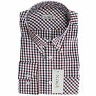 Mens Button Down Shirt by Xact Clothing Long Sleeve Ginham Style Check