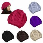 New Unisex Womens Mens Winter Warm Knit Beret Hat Beanie Crochet Ski Baggy Cap