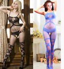 Sexy Lingerie Babydoll Black Blue Garter Teddy Opaque BODYSTOCKING Crotchless