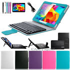 Bluetooth Keyboard Leather Case Cover for Samsung Galaxy Tab 4 10.1 inch Tablet