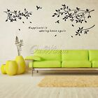 New Fashion DIY Removable Decal Wall Sticker Tree Branches Birds Art Home Decor