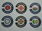 16 BOWLS STICKERS  CROWN GREEN FLAT GREEN AND INDOOR BOWLS 8 FINGER + 8 THUMB