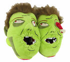 Mens Boys Walking Zombie Dead Monster Green Cushion Novelty Slippers Size 13-11