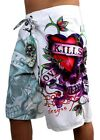 BRAND NEW NWT ED HARDY CHRISTIAN AUDIGIER MEN'S BOARD SHORTS TRUNKS LOVE KILLS