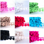 MEGA GIANT POM POM BOBBLE TRIM - 36mm  ALL COLOURS sold by the metre - pom poms