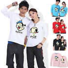 Popeye Oliver Lovers Couple T-shirt Lycra Cotton Thick Men Women SK6097