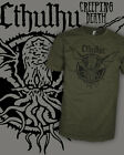 Cthulhu v2 - Call of Cthulu - Vintage HP Lovecraft T-Shirt - Scoop V-Neck Raglan