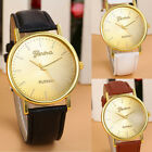Vogue Luxury Womens Geneva Leather Band Analog Quartz Wristwatch Watches Cheap