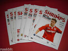 2012/13 - MORECAMBE HOME PROGRAMMES CHOOSE FROM (2013)