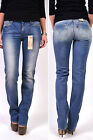 Levi's Jeans Denim 4700 Demi Curve Straight Mid Rise 0137 Sand Washed - New &
