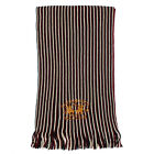 MENS SANTA MONICA DESIGNER CASUAL STRIPY BRANDED KNITTED LONG SCARF ONE SIZE UK