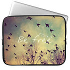 "Be Free 11"" 13"" 15"" Laptop Neoprene Waterproof Sleeve Case Soft Bag Pouch Cover"