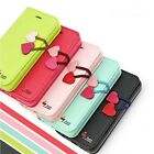 Cute Flip Magnetic Wallet Slot Card PU Leather Stand Case Cover For iPhone