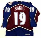 JOE SAKIC COLORADO AVALANCHE CCM VINTAGE JERSEY NEW WITH TAGS