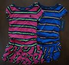 NWT Ralph Lauren Girls S/S Ruched Striped Cotton Dress Sz 5 6 or 6x NEW 5l