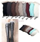 Women's Warm Crochet Knitted Lace Trim Boot Cuffs Toppers Leg Warmers Soft Socks