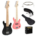 """Electric Guitar Kids 30"""" Guitar With Amp + Case + Strap and More New"""