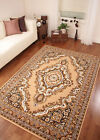 Beige Brown Persian Style Traditional Shiraz Rug Small Large XXL Mats - 10 Sizes