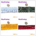 """Natural Stone Beads Agate Round Faceted  Crackle Jewelry Making 15""""Various Color"""