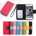 "Leather Botton Wallet Stand Flip Case Cover For Apple iPhone 6 4.7"" Plus 5.5"""