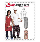 Sew & Make McCall's M5961 SEWING PATTERN - Chef UNIFORMS APRONS SHIRTS HATS