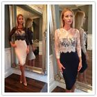 Sexy Women Lace Prom Slim Bodycon Party Cocktail Evening Pencil Dress S-M New-LA