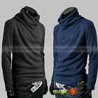 New Men Fashion Turtle Neck Sweater Top T Shirt Jacket 5 Color MSWET012