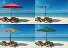 New 8ft Outdoor Aluminum Beach Umbrella Crank Tilt Shade Cover Yard Patio Market
