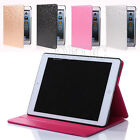 Fashion Bling Leather Smart Case Stand Cover for Apple iPad 6 iPad Air Mini #A22