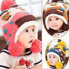 Cute Toddlers Baby Boy Girl Kid Infant Winter Beanie Warm Hat Hooded Knitted Cap