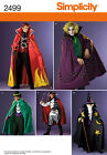 Sew & Make Simplicity 2499 SEWING PATTERN - Mens Costumes PIRATE WIZARD VILLAINS
