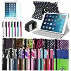 For Apple iPad Air 5 5th Gen Magnetic 360 Rotating Stand PU Leather Case Cover