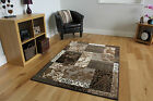 New Grey Beige Patchwork Modern Rugs Easy Clean Quality Soft Lounge Mats Cheap
