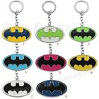 Super Hero Batman Logo Colorful PVC Pendant Key Ring Chain