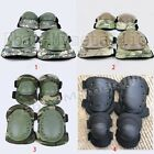 War Game Airsoft Paintball Protection Gear Kneepad Knee Elbow Pad Guard 2 Pairs