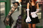 G.L.P punk lolita githic cosplayelbow arm wamers Glove black or white version