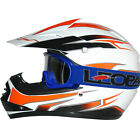 Leopard LEO-X16 Youth Kids Motorbike Motocross MX Helmet Orange/White & Goggles