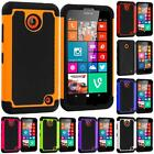 For Nokia Lumia 630 635 Hybrid Rugged Armor Hard Matte Shockproof Case Cover